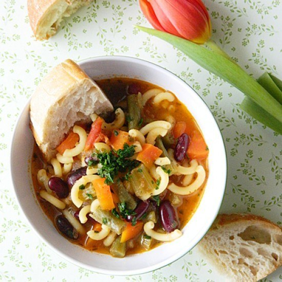 Rezept Minestrone Suppe