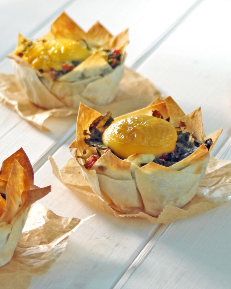 Rezept Mini Aufläufe mit Mangold und Lachs