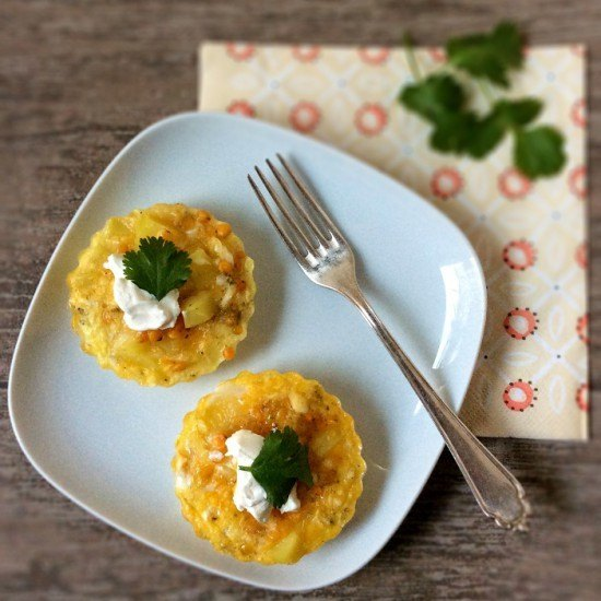 Rezept Mini-Frittatas mit roten Linsen