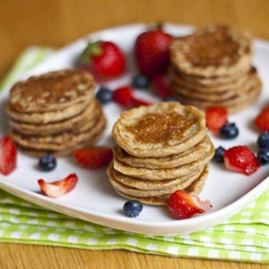 Rezept Mini Hafer Bananen Hüttenkäse Pancakes
