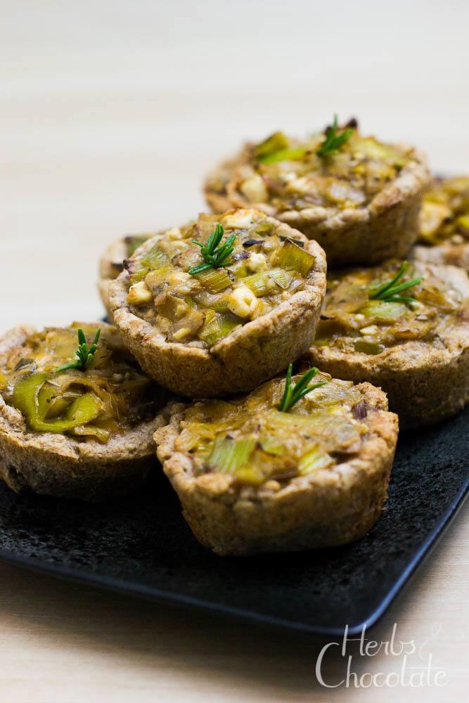 Rezept Mini-Lauch-Quiches mit Feta