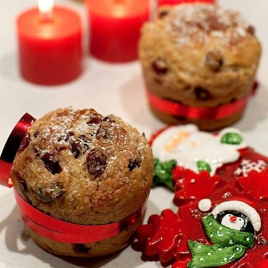 Rezept Mini Panettone mit Cranberries und Pistazien