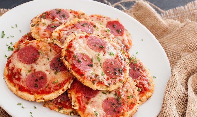 Rezept Mini Tortilla Pizzas