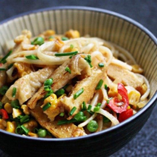 Rezept Miso Yaki Udon mit Mais und Tofu