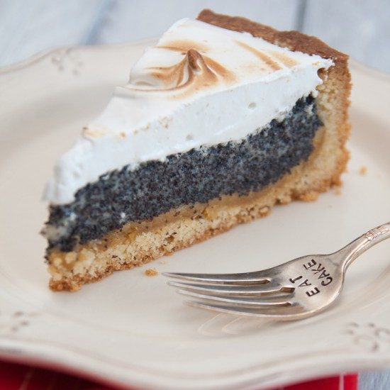Rezept Mohn-Marzipan-Kuchen mit Baiserhaube