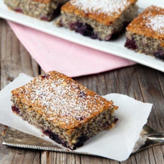 Rezept Mohnkuchen mit Kirschen