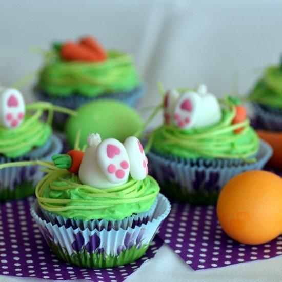 Rezept Möhrchen-Cupcakes mit Frischkäse-Orangen-Frosting