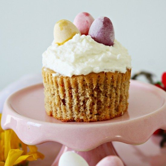 Rezept Möhren Bananen Cupcakes mit Kokos Frosting
