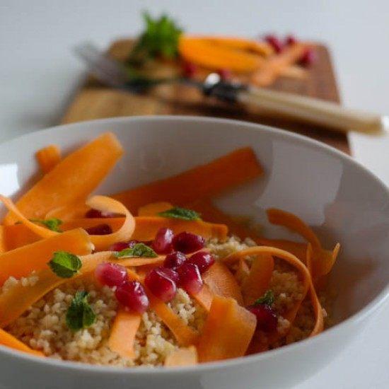 Rezept Möhren-Couscous-Salat mit Granatapfel und Minze