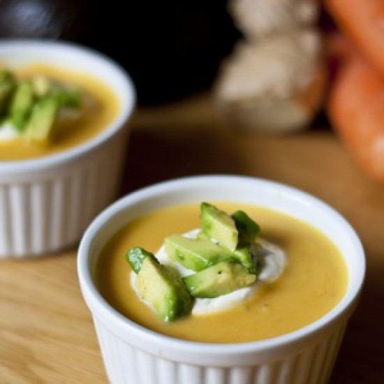 Rezept Möhren Ingwer Suppe mit Avocado