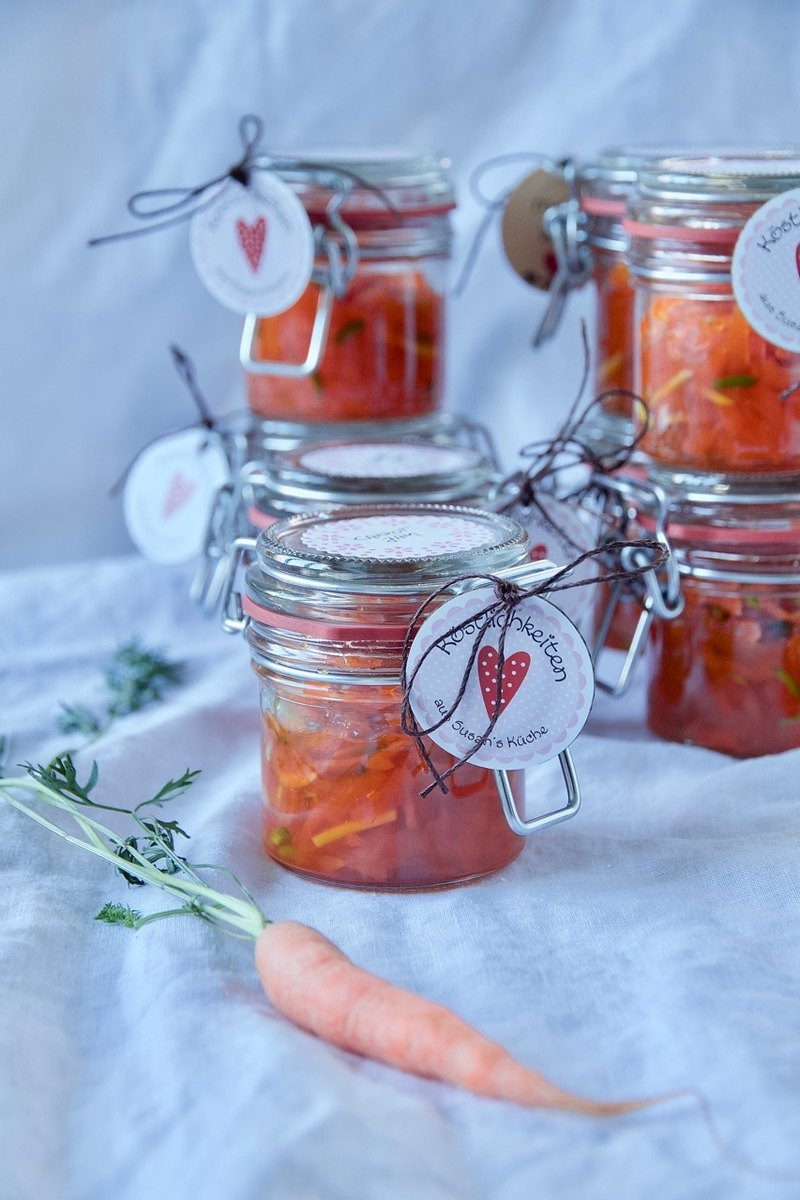 Rezept Morabay-e Havij - Karotten-Orangen-Konfitüre mit Kardamom und Rosenwasser