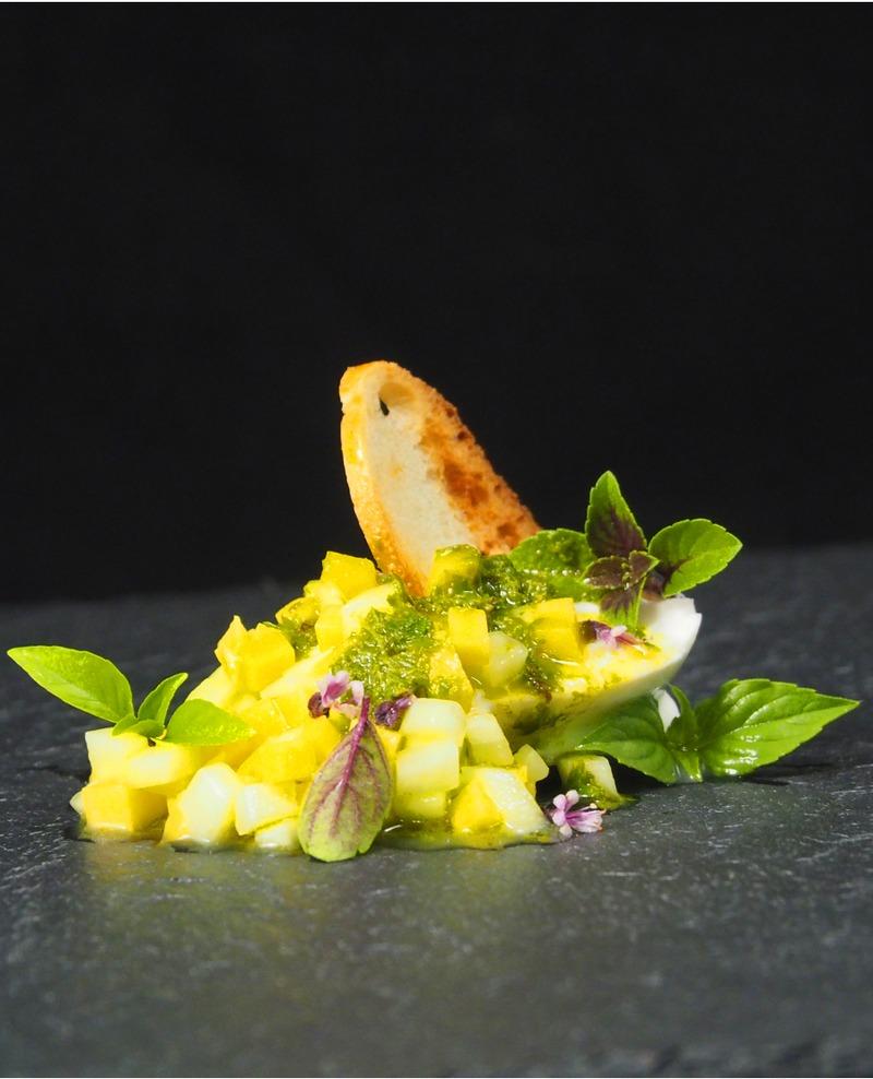 Rezept Mozzarella, Mango, Thaibasilikum