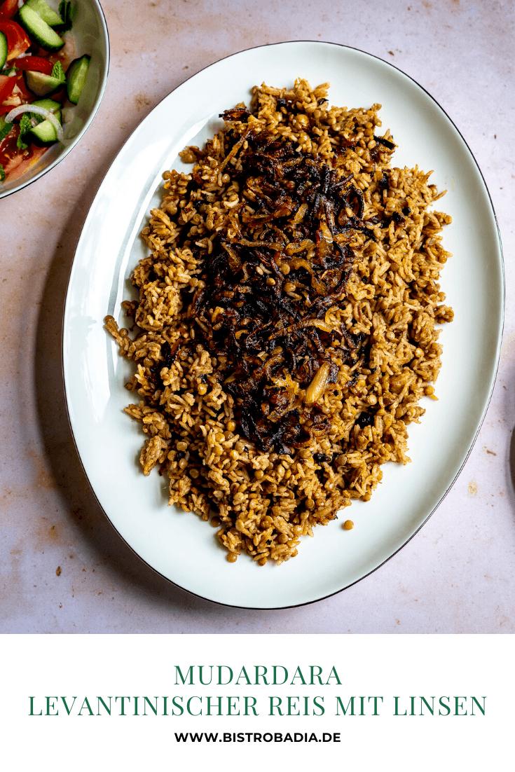 Rezept Mudardara: Levantinischer Reis mit Linsen und Röstzwiebeln