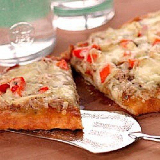 Rezept Naan Pizza Tonno