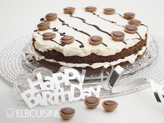 Rezept Naked-Cake Geburtstagstorte mit Toffifee
