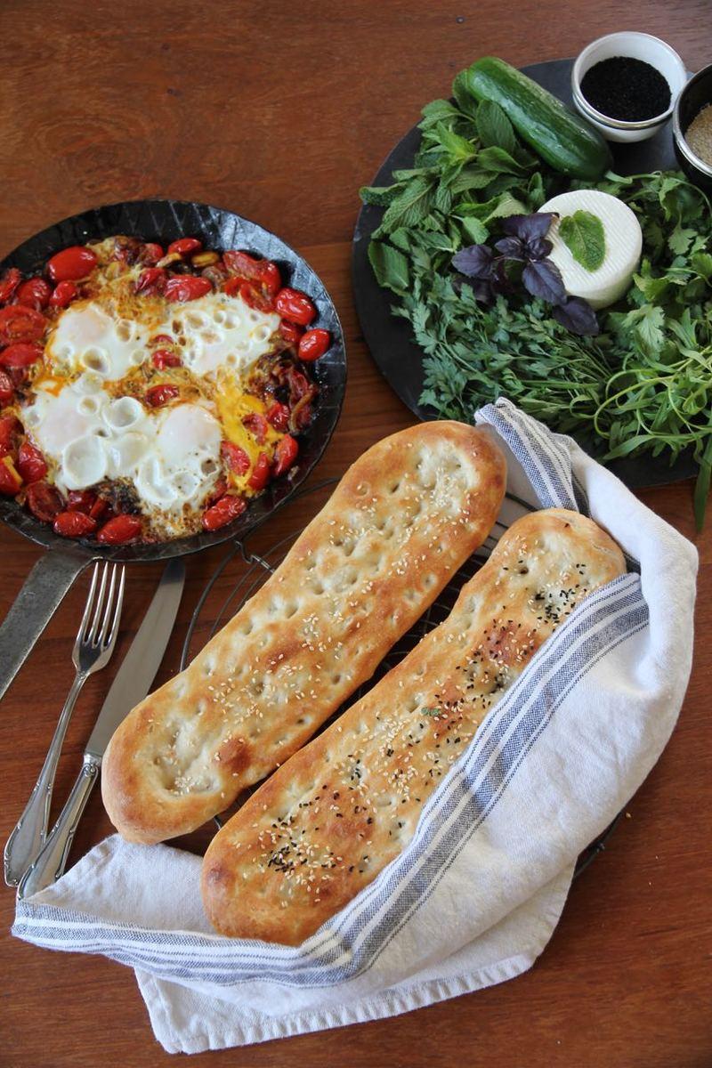 Rezept Nan-e Barbari - persisches Fladenbrot