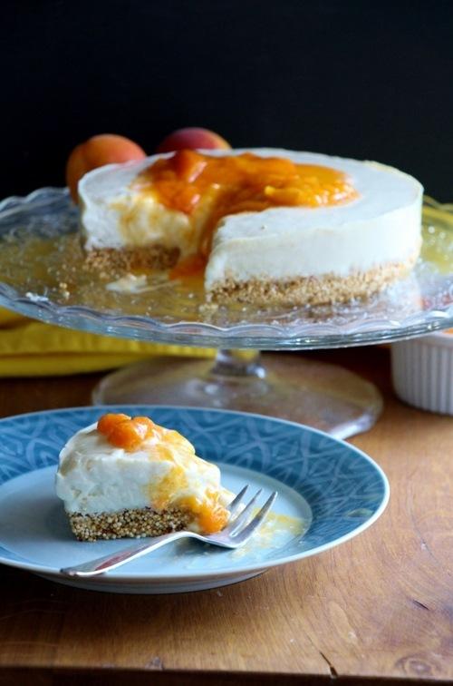 Rezept No Bake Cheesecake mit Aprikosenkompott