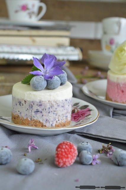 Rezept No-Bake Cheesecake mit Blaubeeren