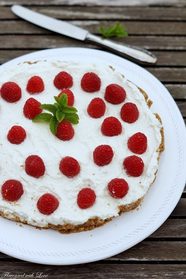 Rezept No Bake Himbeer-Kokos-Kuchen