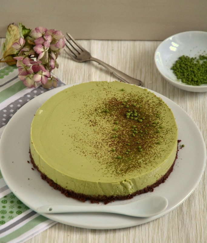 Rezept No-Bake Matcha Cheesecake