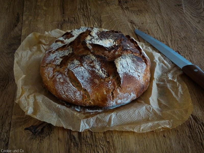 Rezept No knead Bread (mit Hefewasser)