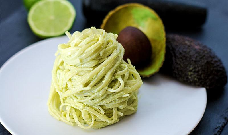 Rezept Nudeln mit Avocado-Feta-Creme
