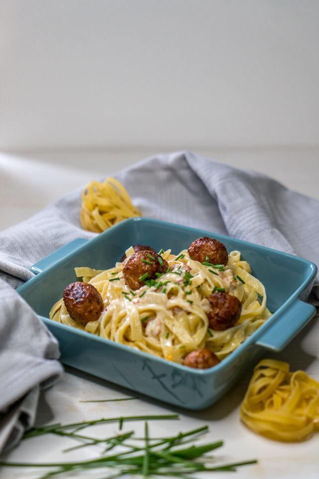 Rezept Nudeln mit Salsiccia und Sahne – einfaches italienisches Rezept