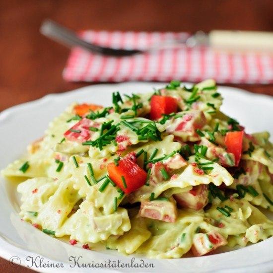 Rezept Nudelsalat mit Avocadocreme