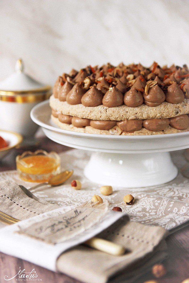 Rezept Nuss-Nougat Torte mit Orange
