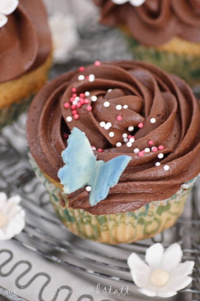 Rezept Nussupcakes mit Schokoladentopping