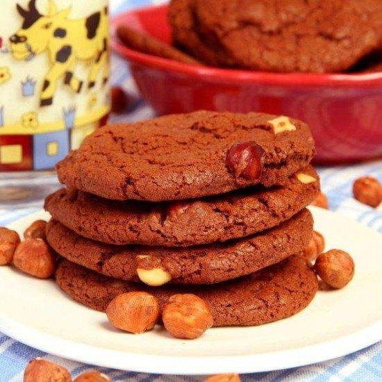 Rezept Nutella Cookies mit Haselnuss
