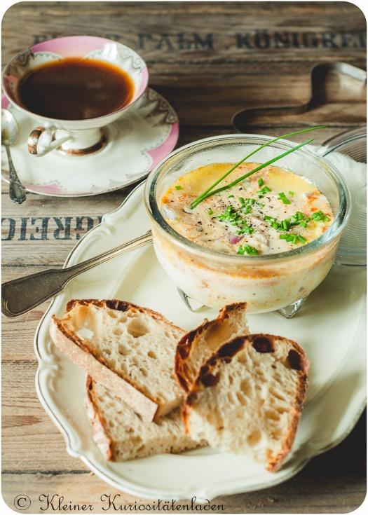 Rezept Oeuf en Cocotte mit Merguez und Brie