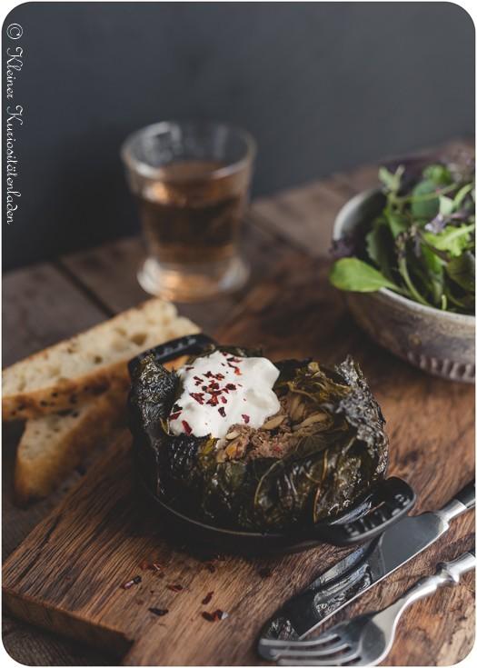 Rezept Ofendolma mit Joghurt-Feta-Sauce