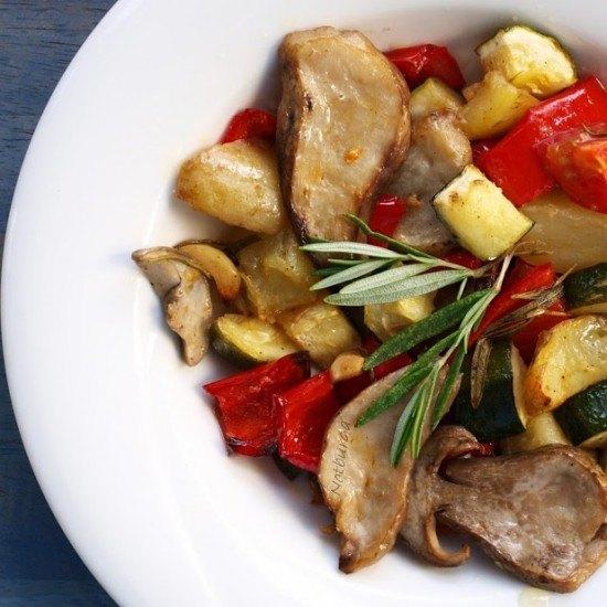 Rezept Ofengemüse mit Steinpilzen