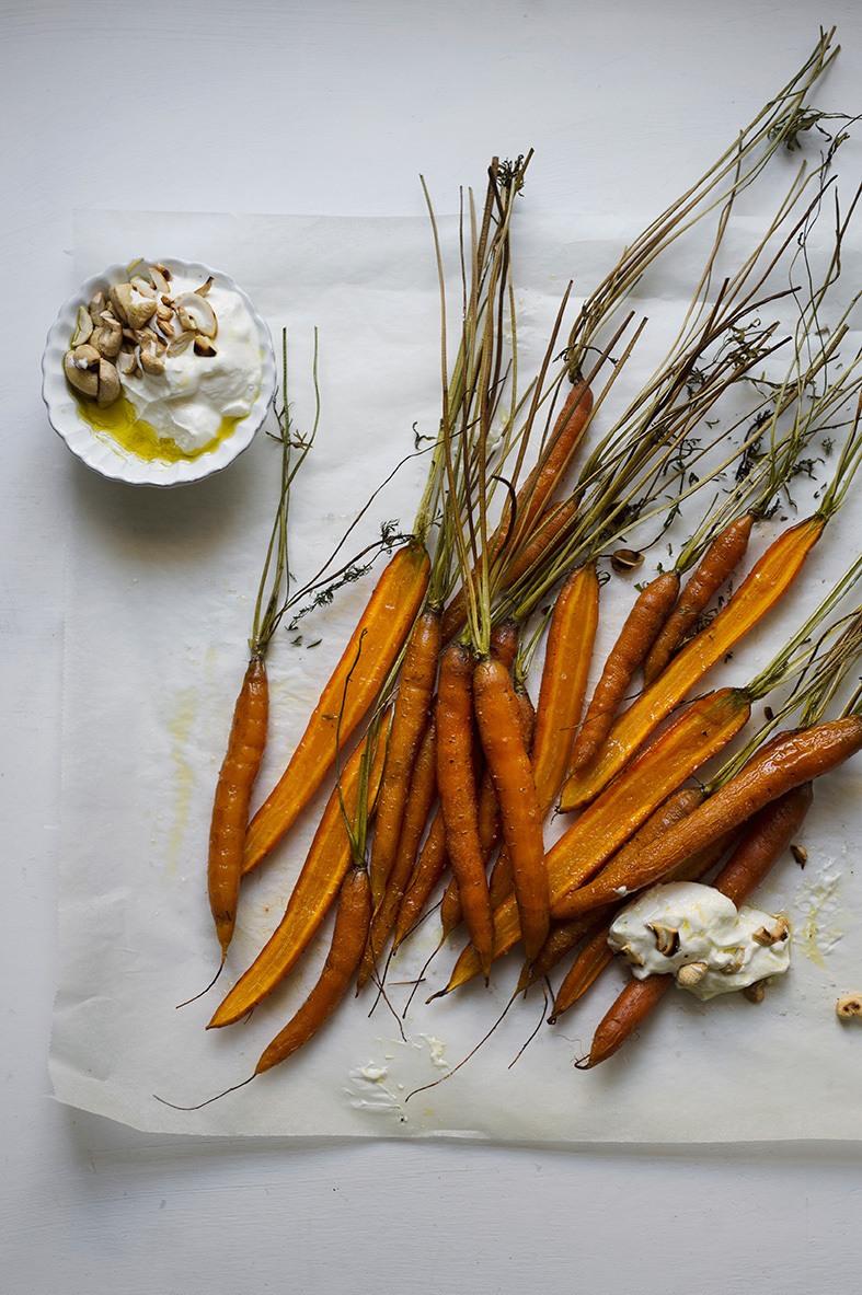 Rezept Ofengeröstete Karotten mit Schafkäse-Dip