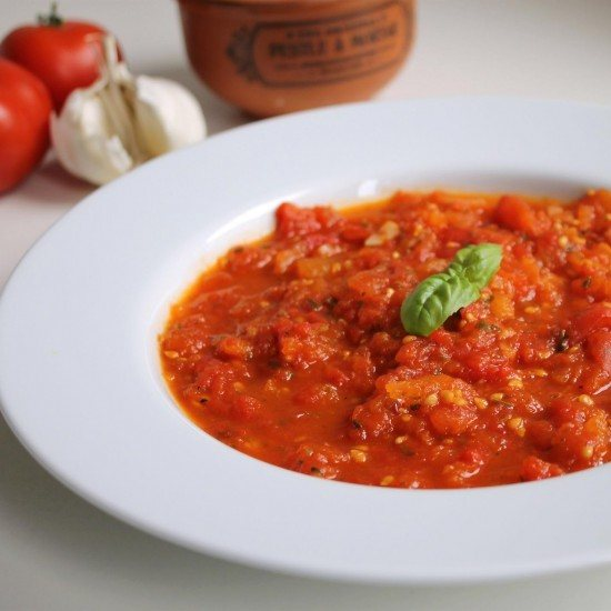 Rezept Ofengeröstete Tomatensuppe mit Pistou