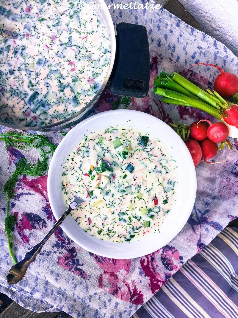 Rezept Okroshka - russische Sommersuppe
