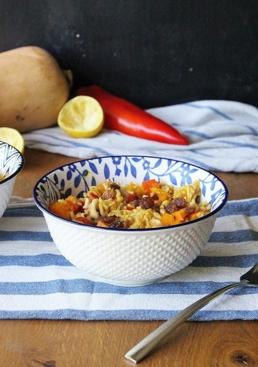 Rezept One - Pot Gewürzkürbis mit Reis