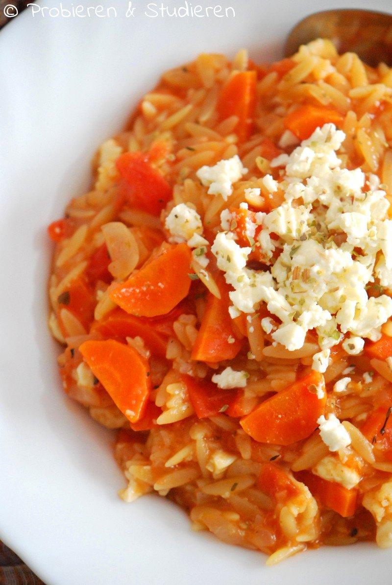 Rezept One Pot Pasta griechischer Art