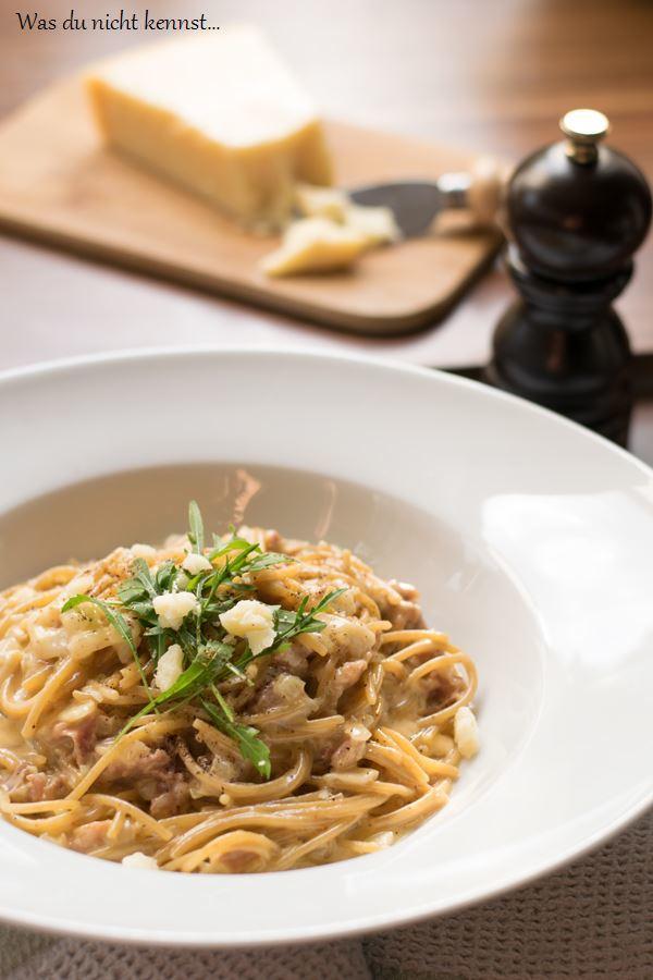 Rezept One Pot Pasta mit Grana Padano und Prosciutto di San Daniele