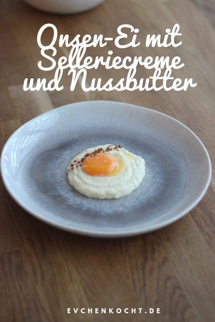 Rezept Onsen-Ei mit Selleriecreme und Nussbutter-Crunch