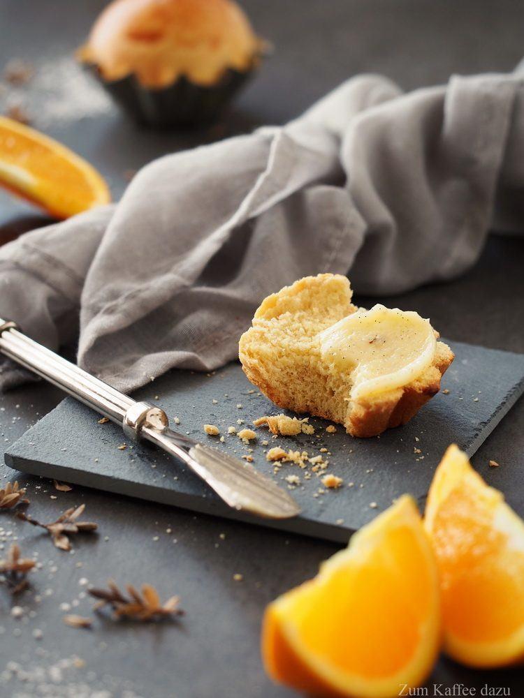 Rezept Orangen-Brioche mit Vanillebutter