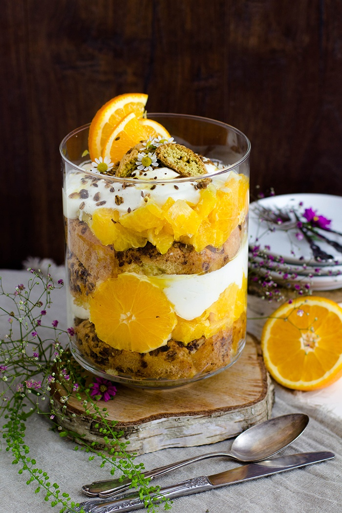 Rezept Orangen Cantuccini Trifle