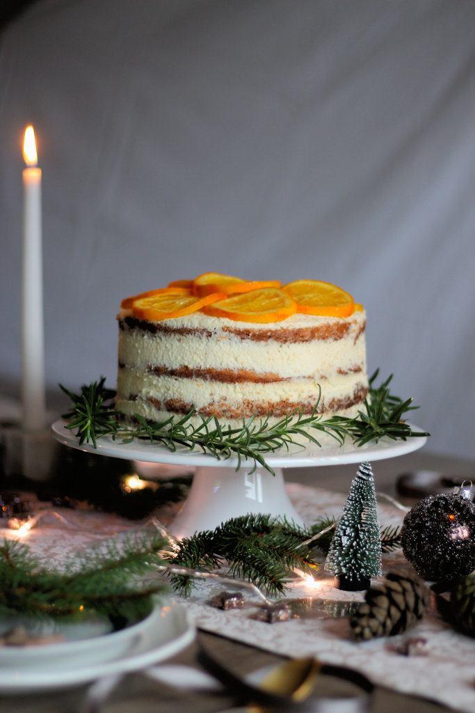 Rezept Orangen-Cointreau Torte und kandierten Orangen