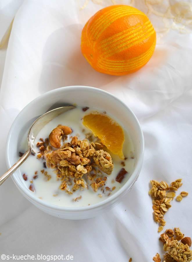 Rezept Orangen Granola -  Sommer in der Schüssel