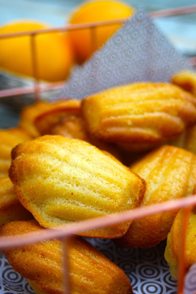 Rezept Orangen-Madeleines mit Orangengelee-Füllung