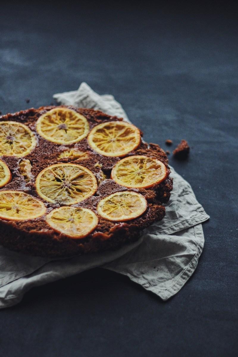 Rezept Orangen-Schokolade Upside-Down-Cake