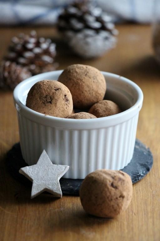 Rezept Orangen - Schokoladen - Rohkost Pralinen