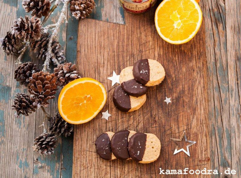 Rezept Orangentaler mit Zimt, dunkler Schokolade und Fleur de Sel