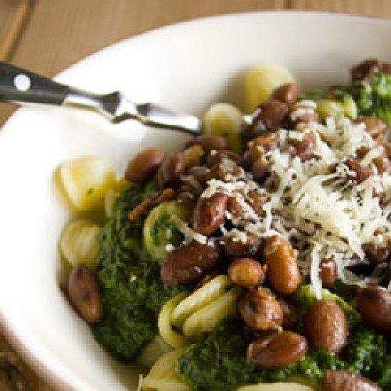 Rezept Orecchiette mit Spinat und Borlotti-Bohnen - Pasta-Soulfood